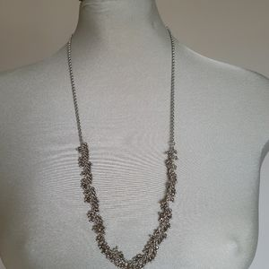 Banana republic beaded silver long necklace